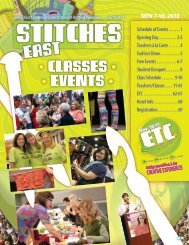 STITCHES East 2013 Classes, Events, & ETC ... - Knitting Universe
