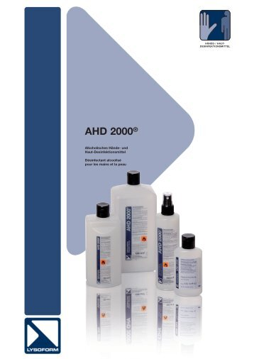 AHD 2000 - LYSOFORM Dr. Hans Rosemann GmbH