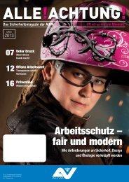 Arbeitsschutz – fair und modern - Alle!Achtung!