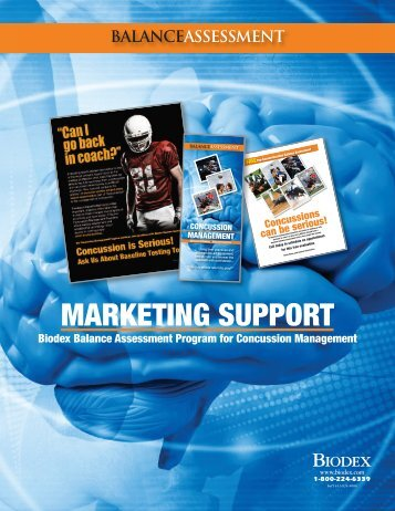 Brochure – Marketing Support Materials - Biodex