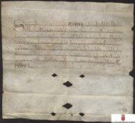 Carta plomada de Alfonso X confirmando la donación de tierras del ...