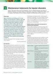 maintenance treatments for bipolar disorders - Australian Prescriber