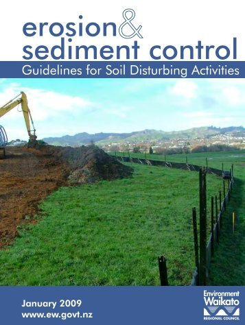 erosion & sediment control Guidelines for Soil Disturbing Activities