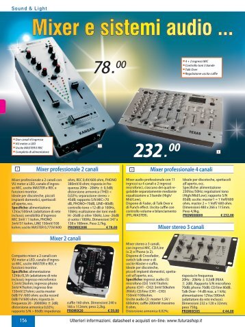 Mixer e sistemi audio ... profession - Futura Elettronica