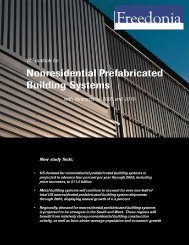 Nonresidential Prefabricated Building Systems - The Freedonia Group