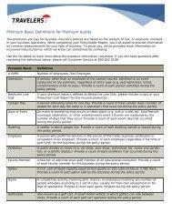 Premium Basis Definitions   Premium Audit   Travelers Insurance