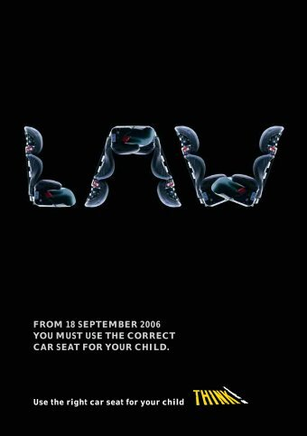 from 18 september 2006 you must use the correct car seat for your ...