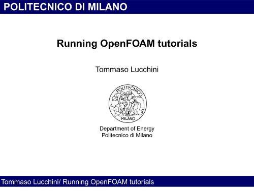 Running OpenFOAM tutorials