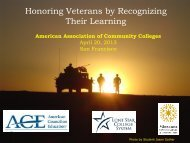 Honoring Veterans by Recognizing Their Learning - Academic ...