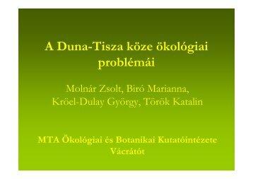 A Duna-Tisza köze ökológiai problémái