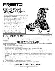 Belgian Waffle Maker - Presto
