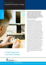 A total approach to product design - TU Delft