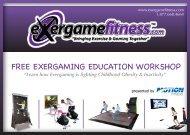 FREE EXERGAMING EDUCATION WORKSHOP - Exergame Fitness