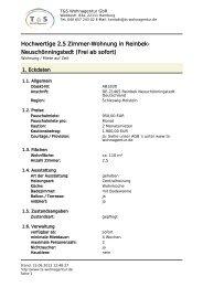 Hochwertige 2,5 Zimmer-Wohnung in Reinbek-Neuschönningstedt ...