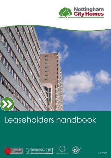 Leaseholders handbook - Nottingham City Homes