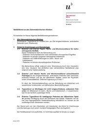 Notfalldienst (pdf, 31KB) - zahnmedizinische kliniken zmk bern