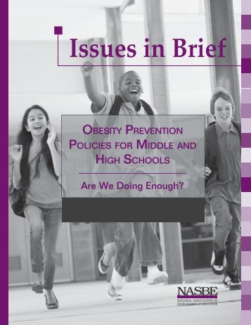 Obesity Prevention Policies for Middle and High Schools - cahperd