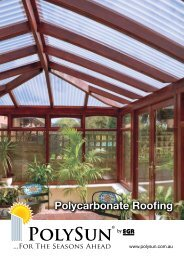 Polycarbonate Roofing - Industrial Plastic Shapes