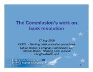 The Commission's work on bank resolution