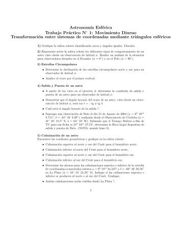 TP 1 Repaso Astronomía General II
