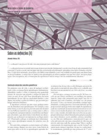 Sobre as definições (II) - Associação de Professores de Matemática