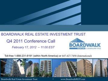Q4 - 2011 Presentation - Boardwalk REIT