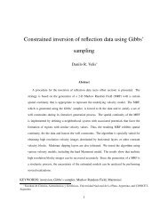 Constrained inversion of reflection data using Gibbs' sampling