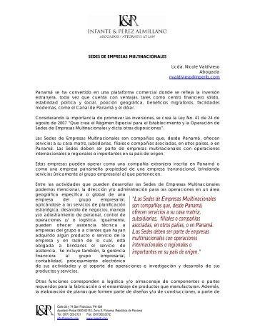 """""""Las Sedes de Empresas Multinacionales son compañías que ..."""