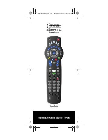 Atlas OCAP 5-Device Universal Remote Control with