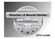 Nhacker: A Neural Hacker - XCon