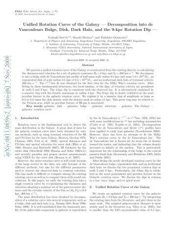 arXiv:0811.0859v2 [astro-ph] 7 Nov 2008
