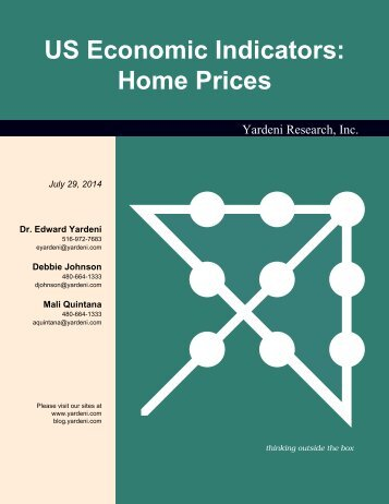 US Home Prices - Dr. Ed Yardeni's Economics Network