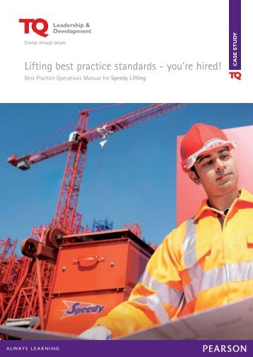Lifting best practice standards - you're hired! - TQ Education and ...