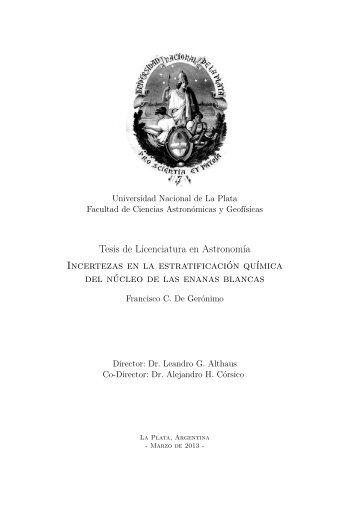 Tesis de Licenciatura en Astronomía Incertezas en la estratificación ...