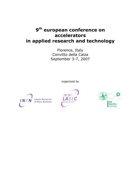 12 th European Conference on Accelerators in Applied