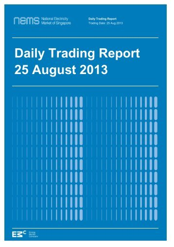 Daily Trading Report 25 August 2013 - EMC
