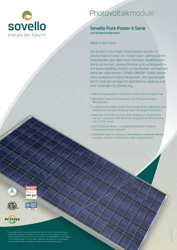 Photovoltaikmodule - SAT Solar