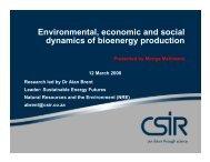Environmental, economic and social dynamics of ... - BioenergyWiki