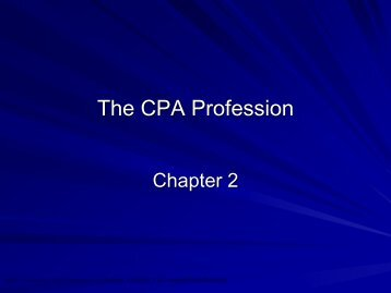 Chapter 2 – The CPA Profession - HCC Learning Web