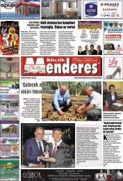 22 Eylül Tarihli Küçükmenderes Gazetesi