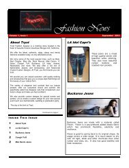 Fashion News - Tryst Fashion Apparel