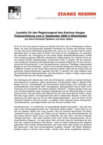 Anerkennungspreis 2008 Laudatio (PDF) - Vereinigung für eine ...