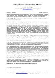 Letter to Jacques Chirac, President of France - World Uranium ...
