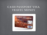 Tarjetas de Prepago Visa Travel Money - Intercam