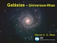 Galáxias - Universos-Ilhas - 2006 - Observatório Nacional