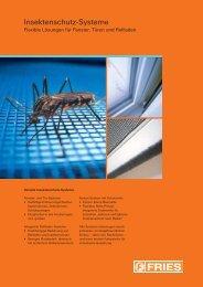 Insektenschutz-Systeme - Fries