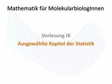 9. Grundlagen der Statistik