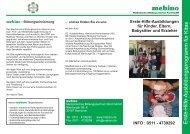 Flyer Erste Hilfe am Kind und Kinder lernen helfen bei mebino.cdr