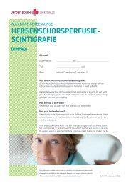 HersenscHorsperfusie- scintigrafie - Jeroen Bosch Ziekenhuis