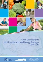 Joint Health and Wellbeing Strategy - South Gloucestershire Council